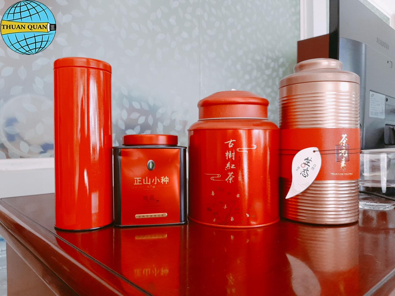 Lon đựng trà